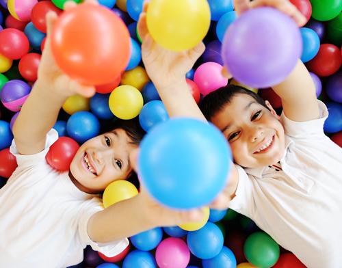 kids in balls