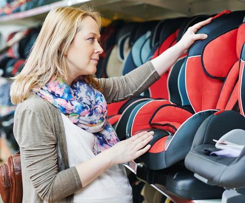 Mom car seat shopping